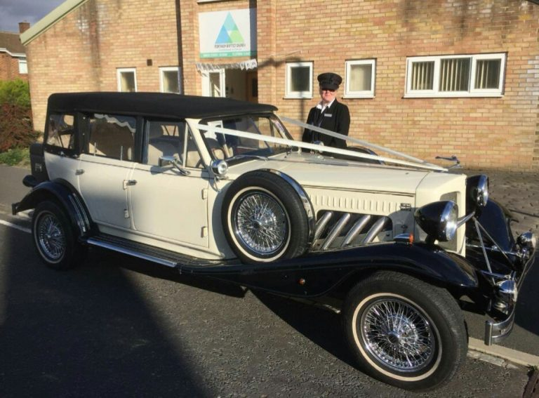 Toni Stratton and a Classic Wedding Car