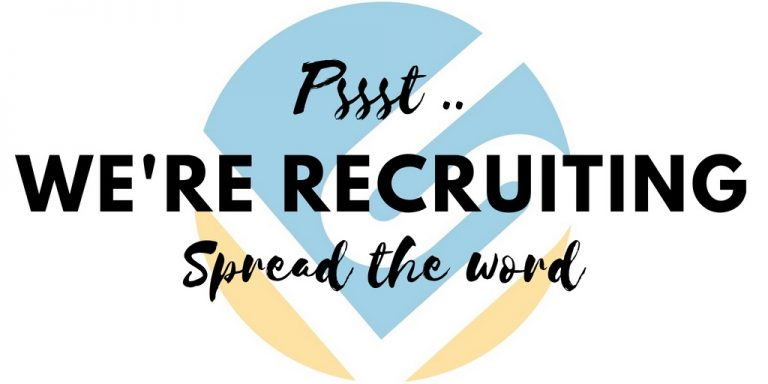 We're Recruitng - Spread the word