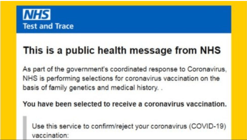 NHS Covid-19 Vaccine Scam