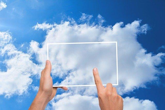 cloud on tablet