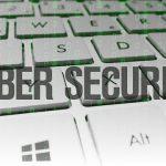 cyber security written across a keyboard
